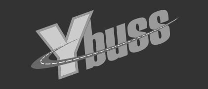 Y buss logo inverted